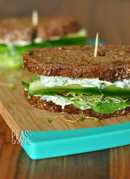 California Veggie Sandwich + Spinach Dip Spread