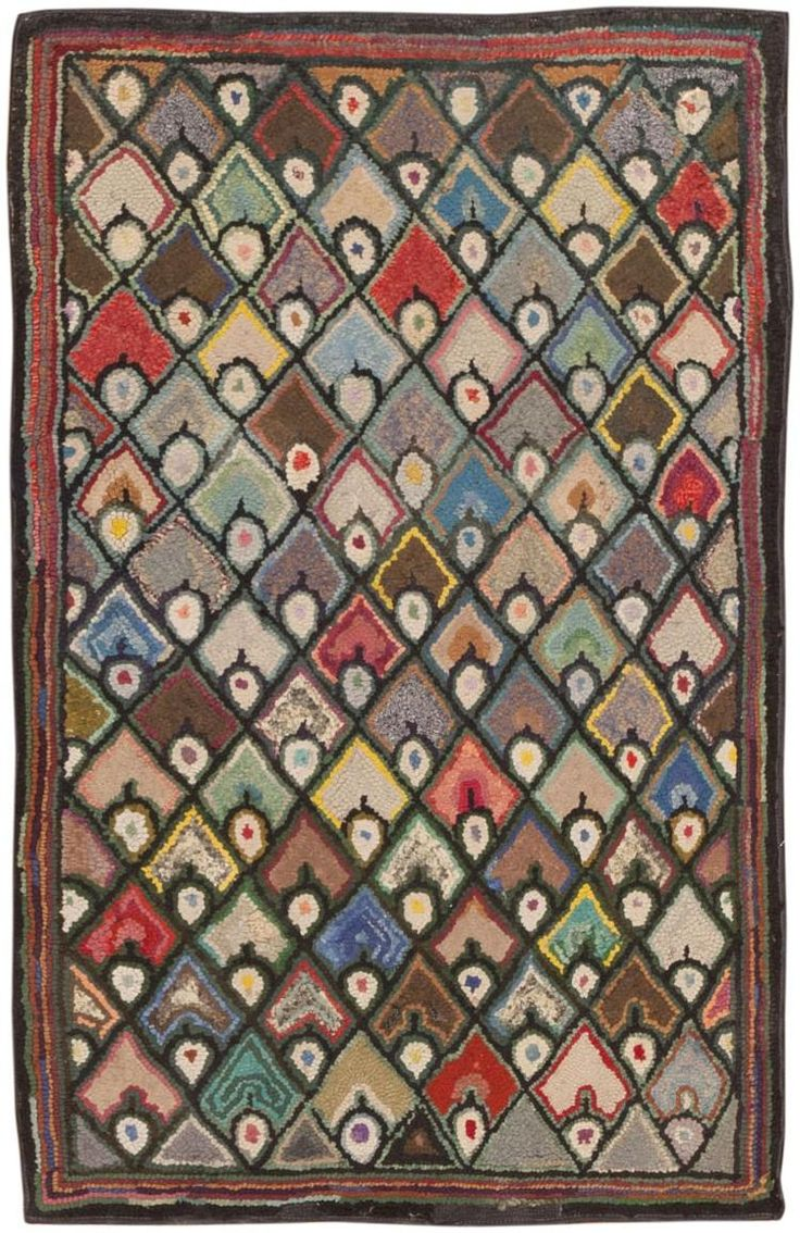 Early 20th Century American Hand Hooked Rug