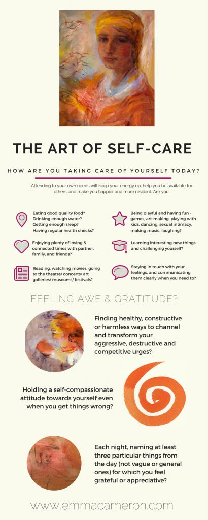 The Art of Self-Care. www.emmacameron.com  Psychotherapy & Creative Art Workshops