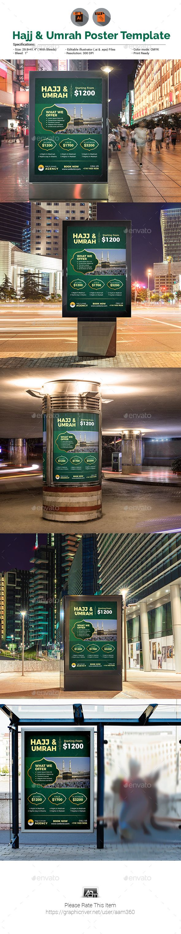 #Hajj #Poster #Template - #Signage Print #Templates