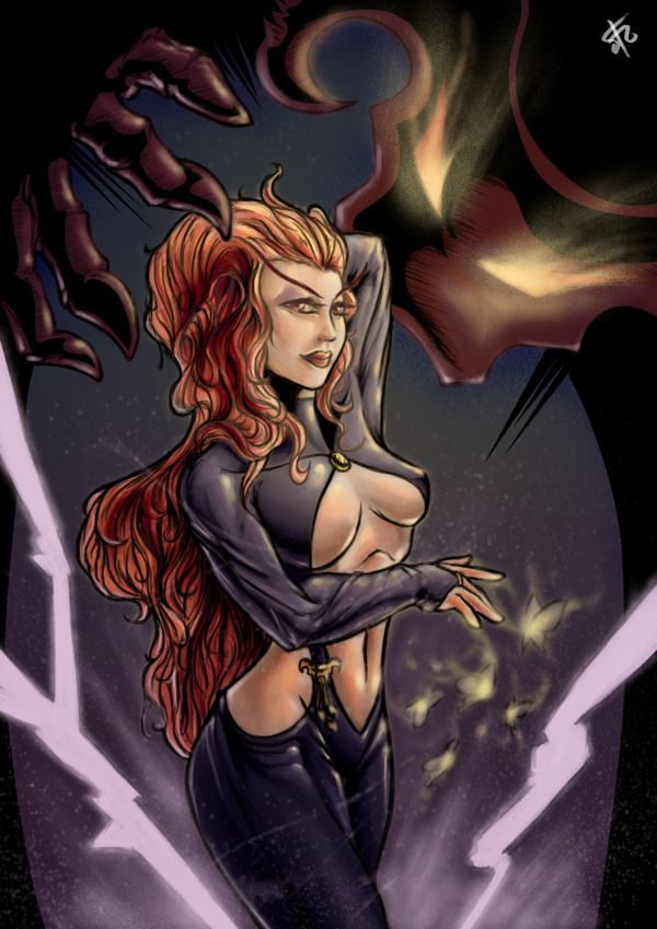 Satana Hellstrom Halloween Tribute by Christopher Michael Sugianto, via Behance