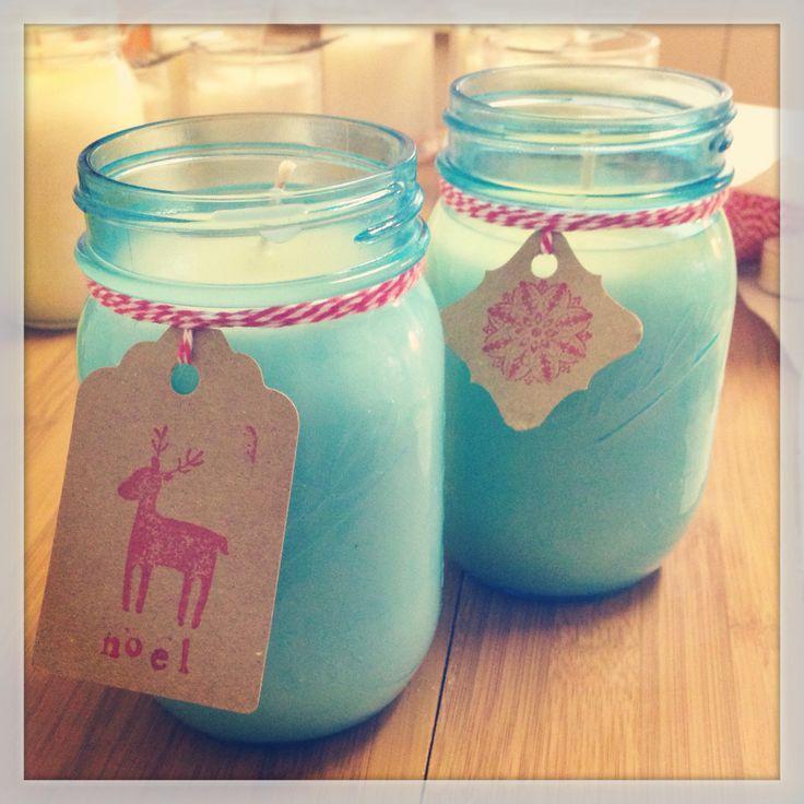 Blue Mason Christmas jars www.burningsoy.com.au