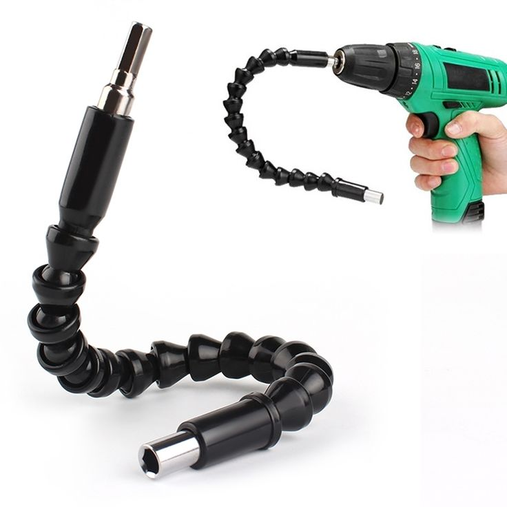 Hot Sale Flexible Shaft Bits Extention Screwdriver Bit Holder Connect Link For Electronics Drill Black 295mm Home Accessories
