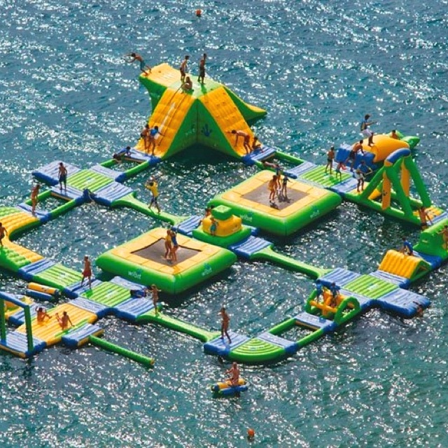 Best water obstacle course in the world! We need to make