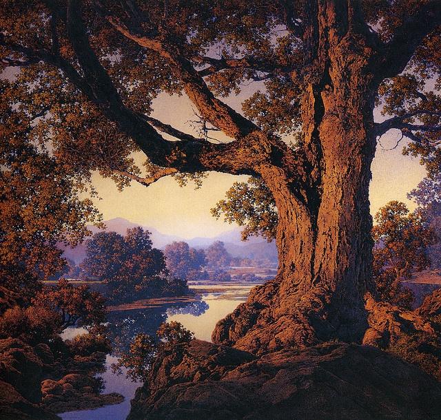 Maxfield Parrish #tree #landscape #art | Maxfield Parish ...