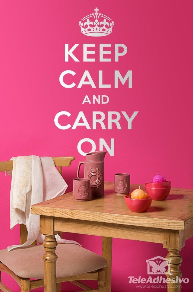 Vinilos Decorativos: Keep Calm And Carry On #academia #ingles #Londres #vinilo #pared #decoracion #TeleAdhesivo