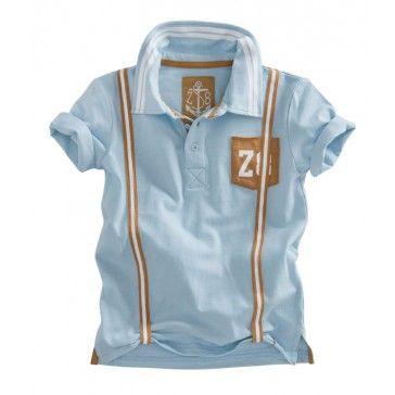 Z8 baby - Polo Zac powder blauw