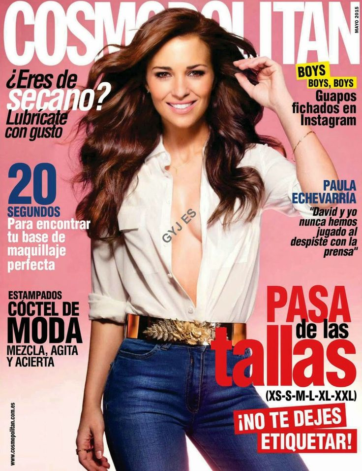 Actress @ Paula Echevarria - Cosmopolitan Spain, May 2015