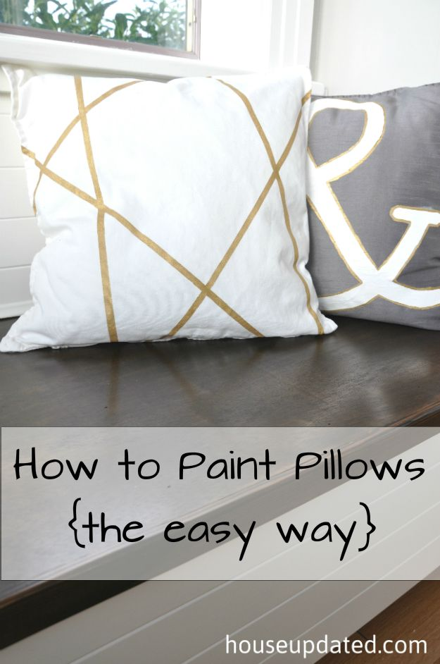How to Paint Pillows, The Easy Way
