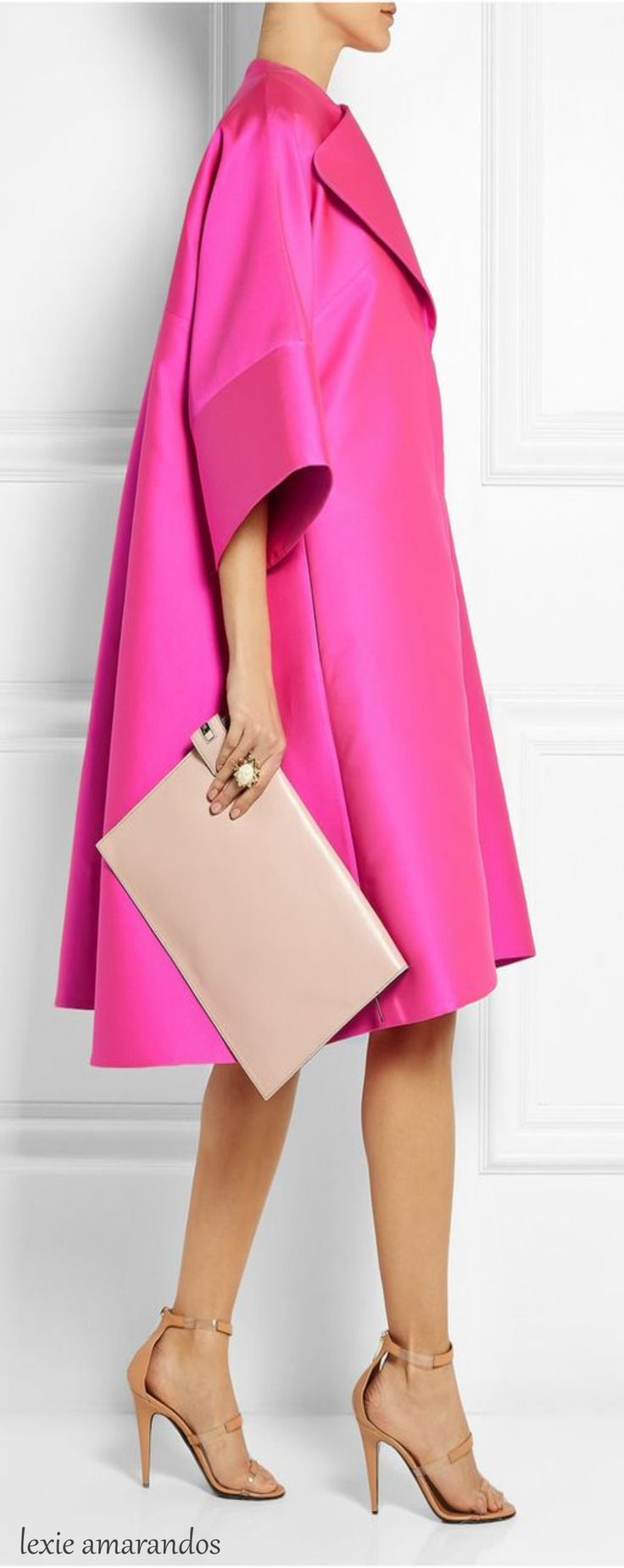 Antonio Berardi Oversized scuba-satin coat