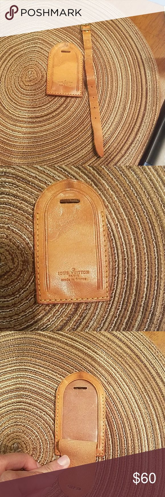 Louis Vouitton learher Luggage tag Pre-owned leather is in good vintage condition Louis Vuitton Bags Travel Bags
