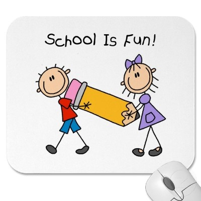 Stick Figure School Is Fun Mousepad