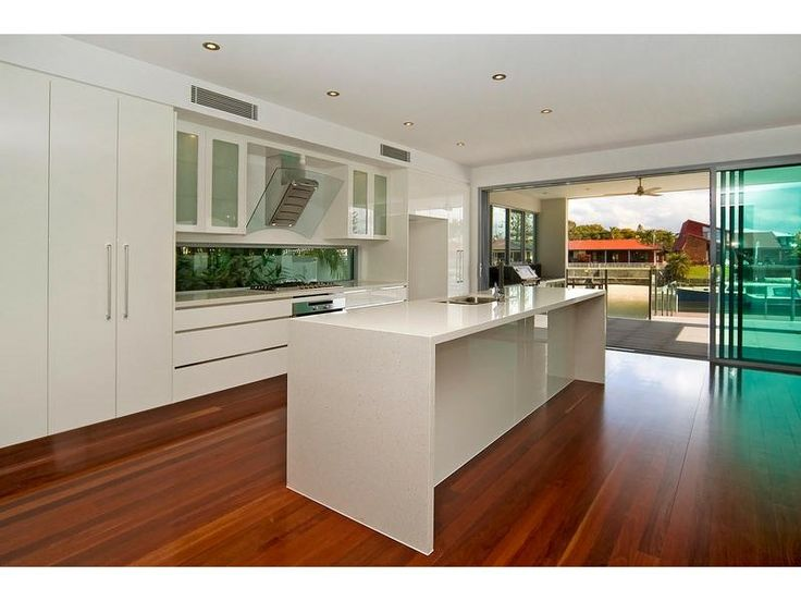 Open Plan Kitchen With Floating Floorboards Http Www Homehound