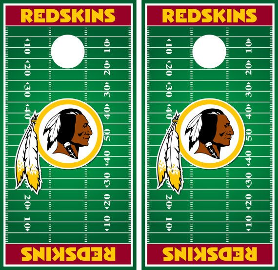 washington redskins cornhole decal wrap field by - Cornhole Board Wraps