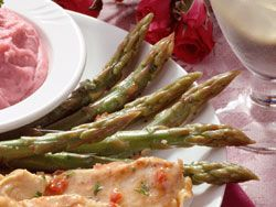 Herbed Asparagus is the perfect fresh veggie side to go along with a juicy steak, and is sure to be a regular request at dinner time!