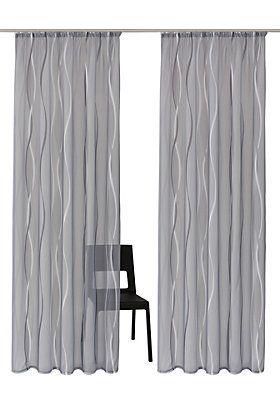 Gardine, »Dimona«, my home, Kräuselband 2 Stück in silbergrau im QUELLE Online Shop