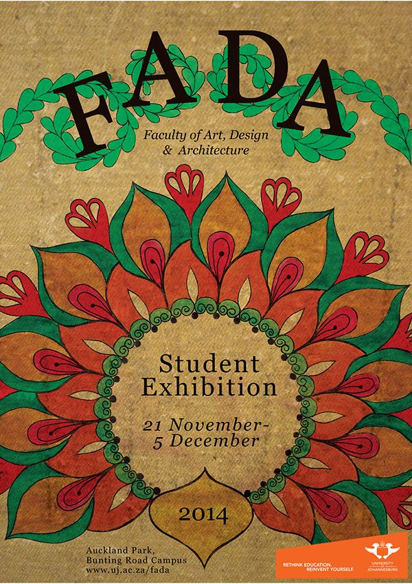 FADA Student Exhibition on Behance #poster design