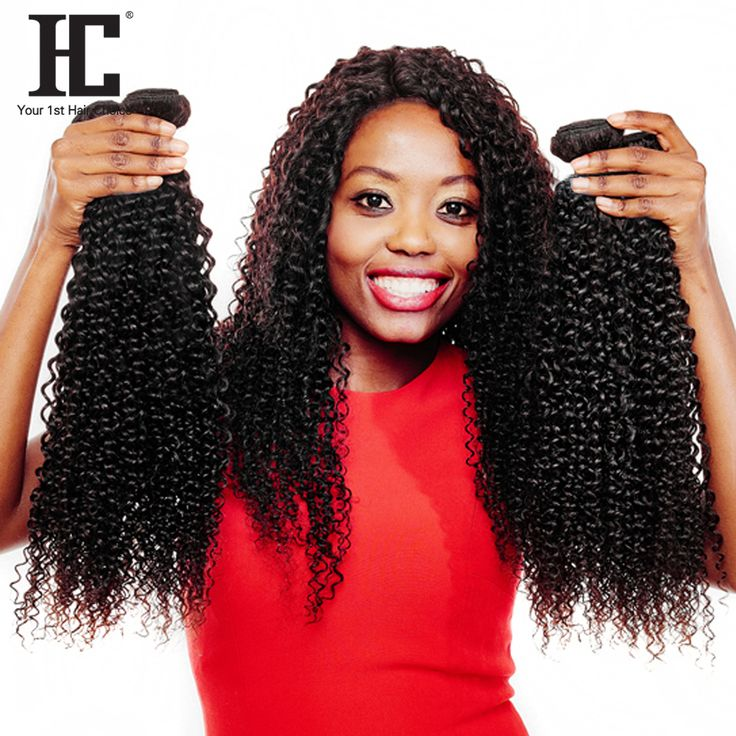 HC Hair Malaysian Kinky Curly Hair 10-28 Inch Natural Color Weave One Piece Non Remy Hair Extensions 100% Human Hair Bundles #Affiliate