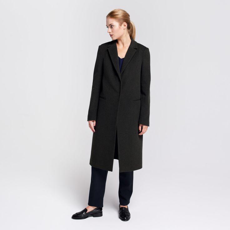 Milan Coat Dark Green Elementy #milan #coat #wool #darkgreen  #elementy #polishfashion #classic #minimal #simplicity #plaszcz #polskamoda #wełna #minimalizm #aw16