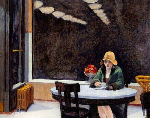 Automate, 1927, Edward Hopper, (Des Moines – Iowa, Des Moines Art Center). Mouvement réalisme américain.