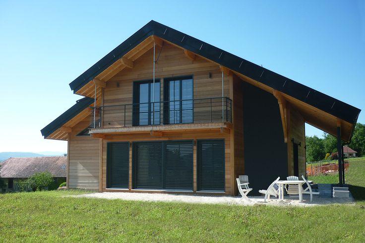 les 25 meilleures id es de la cat gorie maison ossature bois sur pinterest maisons ossature. Black Bedroom Furniture Sets. Home Design Ideas