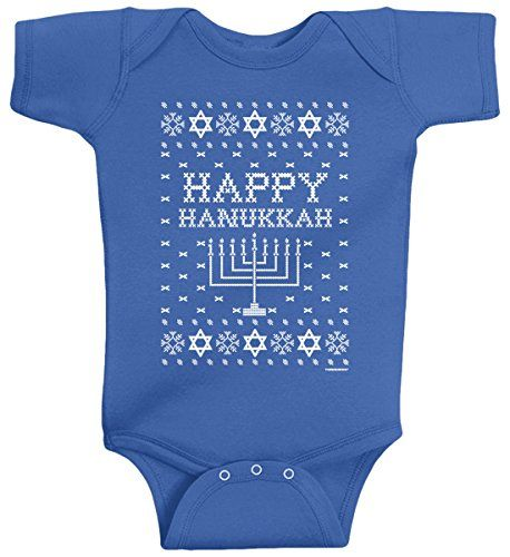 Threadrock Baby Boys' Happy Hanukkah (Ugly Sweater) Infant Bodysuit 12M Royal Blue Threadrock http://www.amazon.com/dp/B00PCQAMPK/ref=cm_sw_r_pi_dp_oknFub1CA09RY