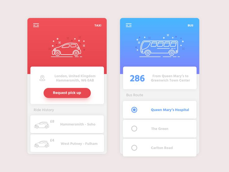 Transportation App by Kyran Leech
