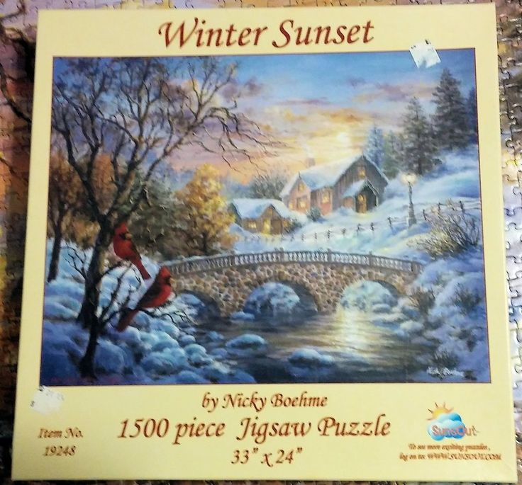 WINTER SUNSET 1500 Piece Jigsaw Puzzle SunsOut