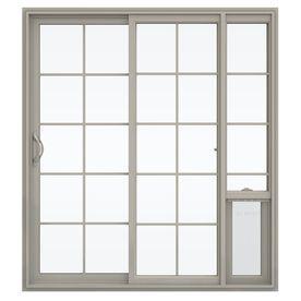 Jeld Wen Glass Desert Sand Vinyl Sliding Patio Door With Screen
