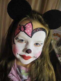 Face paintings, Small art and Mini mouse on Pinterest