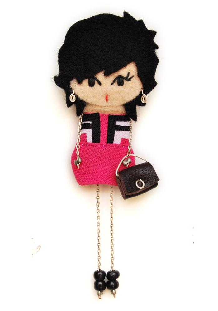 Patricia. # felt dolls # brooche doll # custom doll # minimis
