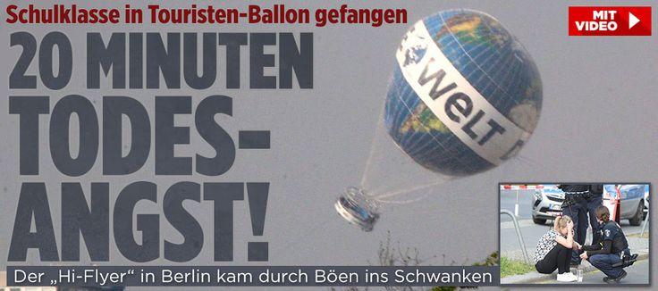 Schulklasse aus Norwegen an Bord | Touristen-Ballon taumelt über Berlin http://www.bild.de/regional/berlin/heissluftballon/hi-flyer-taumelt-ueber-berlin-45641140.bild.html