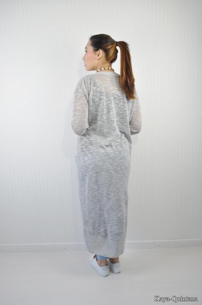 lang grijs vest met zakken