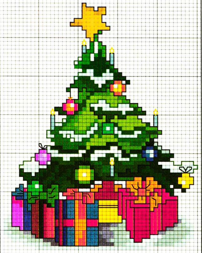 Albero di Natale - punto croce
