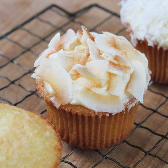Recipe:  Coconut Milk Cupcakes, Two Ways
