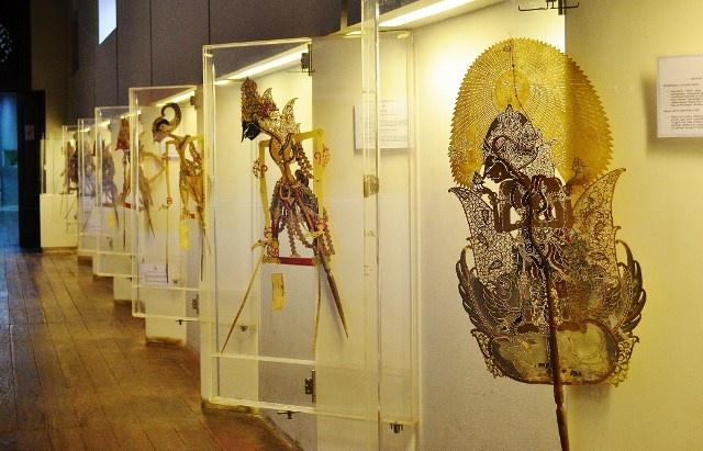 Display of Wayang Kulit from Surakarta, Central Java