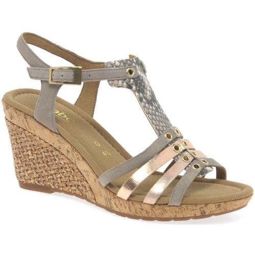 Sandals Gabor Iris Womens Wedge Heel Sandals BEIGE 89.99 £
