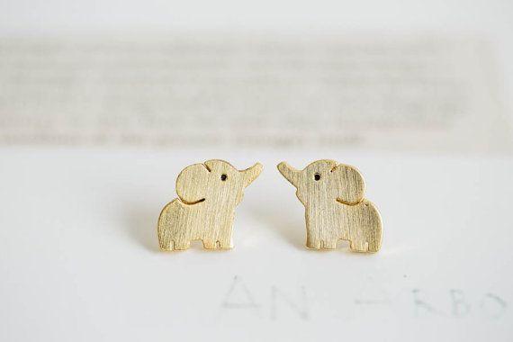 cute elephant earrings,Jewelry,Earrings,Post,elephant ,cute  animal,pet  kids,elephant earrings,elephant jewelry ,silver elephant, E116R on Etsy, $9.80