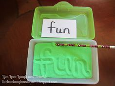 This sand box (in a pencil box) activity can be used to make informal assessments/therapy sessions fun.  When the school-based SLP is assessing baselines for a group, this is beneficial because instead of waiting to hear what each student knows one by one, the sand boxes can be used to write all their answers in at once.  This could be used for multiple objectives and even some assessments (informal mostly).