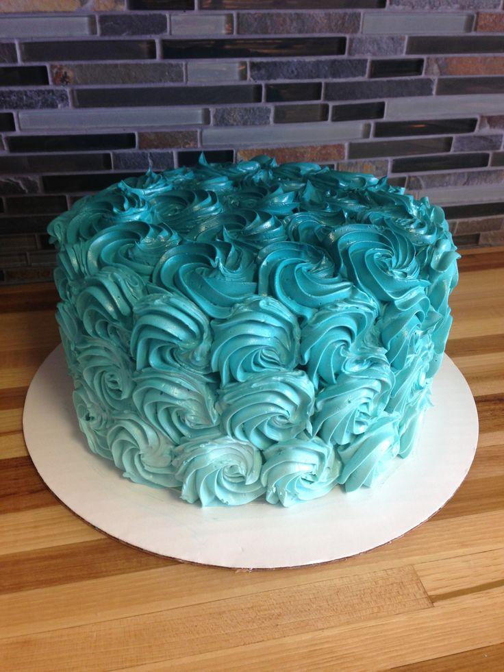 Blue Ombre Birthday Cake Birthday Cakes Pinterest