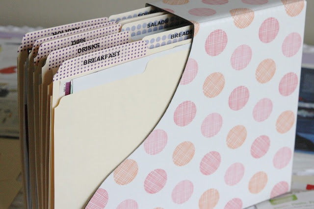 """simply organized: organized """"recipes to try"""" a good way to store papers"""