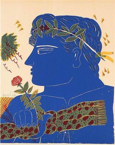 Profil Bleu par Alecos Fassianos