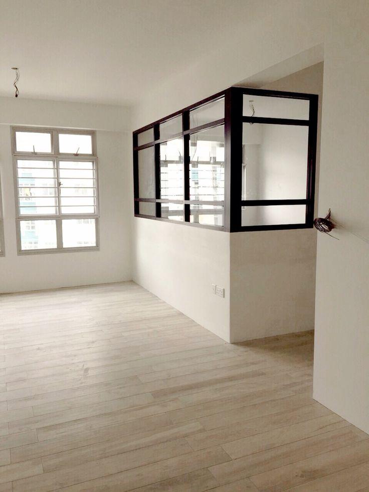 Study room black frame glass hdb | Room, Apartment design ...
