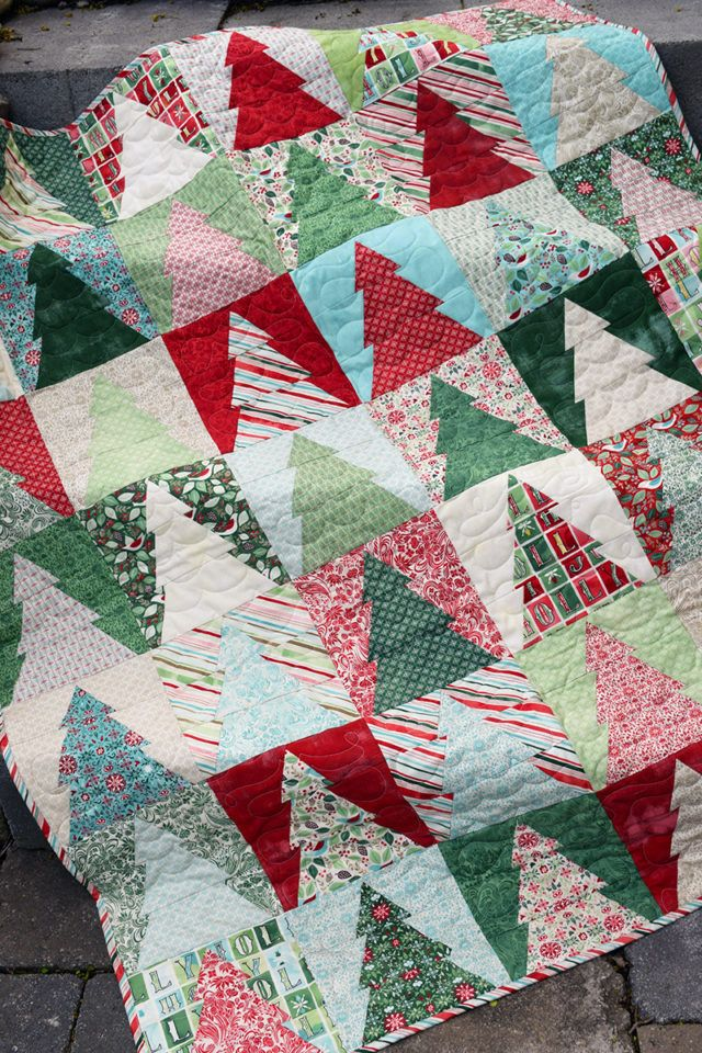 Christmas Tree Quilt Blocks Wander Christmas Tree Quilt