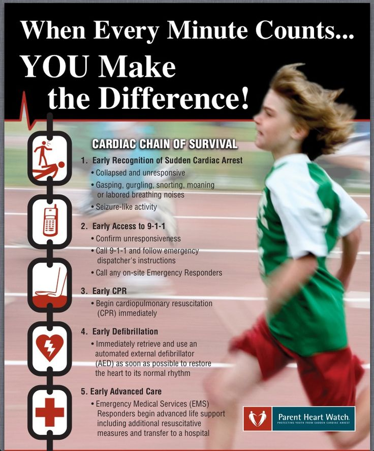 Sudden cardiac arrest in young people... Knowledge is power. #savinglives