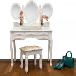 """Sminkbord med spegel och pall"""""""