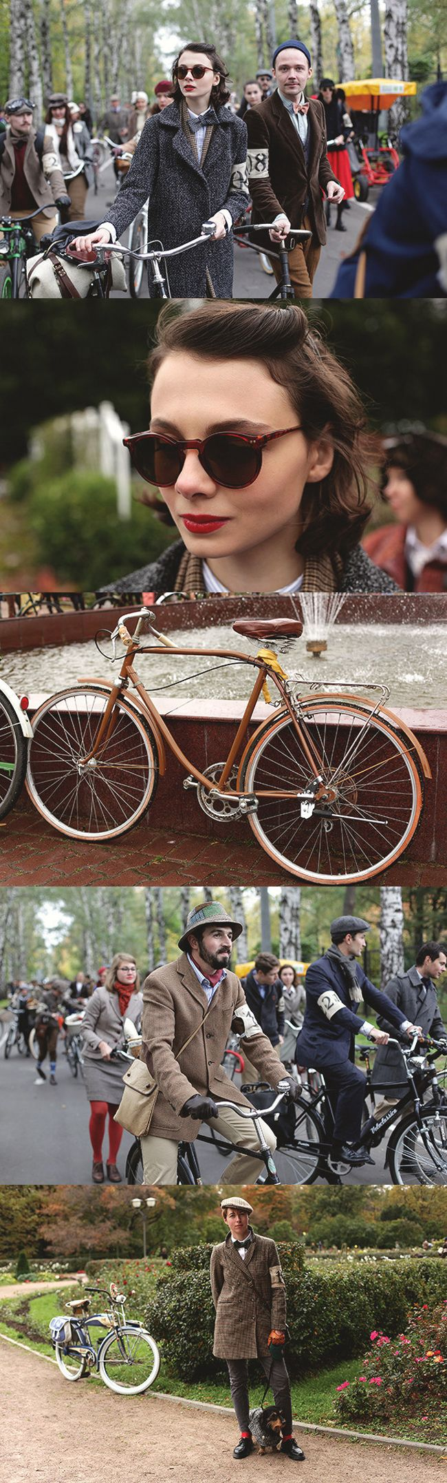 ~Tweed Run The Tweed Run is a group bicycle ride through the centre of London, in which the cyclists are expected to dress in traditional British cycling attire, particularly tweed plus four suits. Any bicycle is acceptable on the Tweed Run, but classic vintage bicycles are encouraged | The House of Beccaria