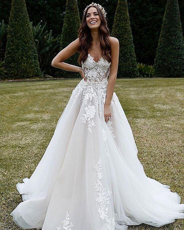Truly A Queen Former Miss Australia Monika Rad Wearing Our Custom Design Eternal Bridal Glbride Wedding Dresses Lace Wedding Dresses Dream Wedding Dresses
