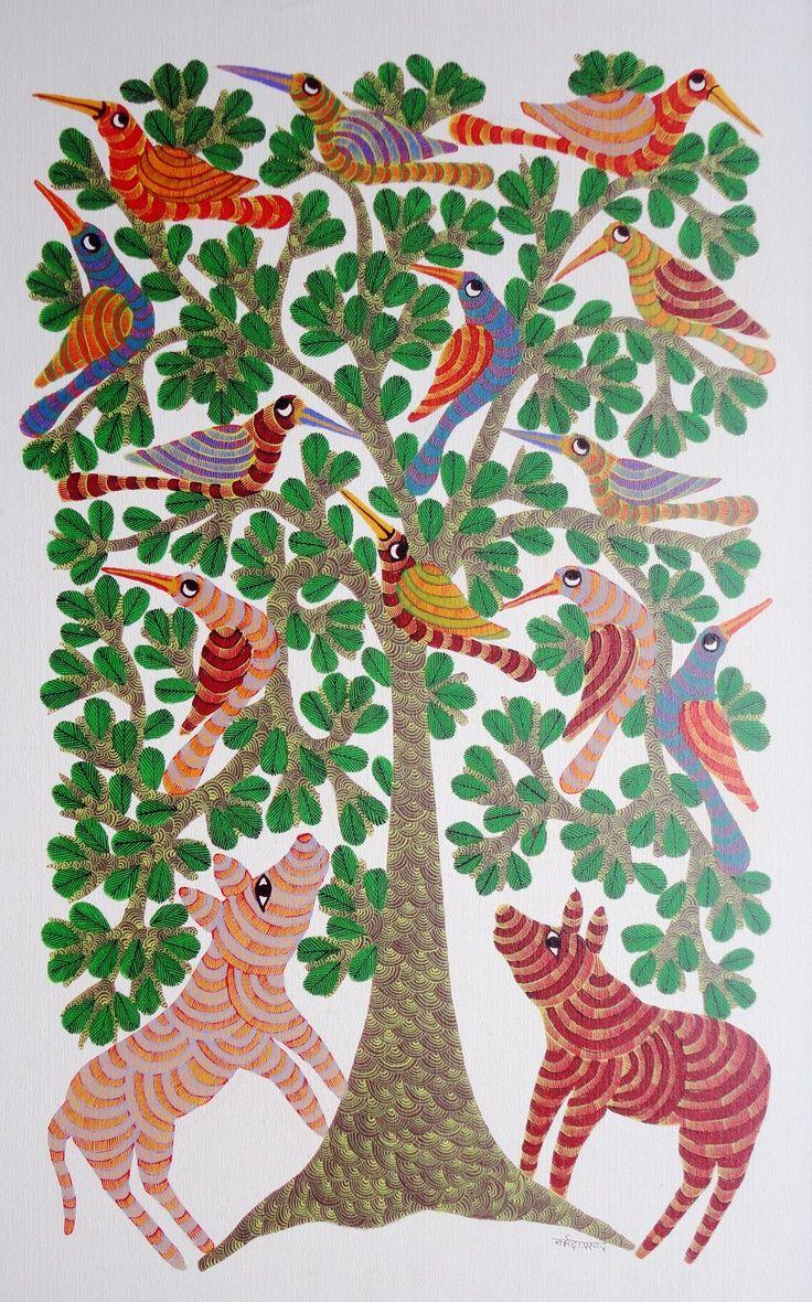 Gond art  by Narmada Prasad