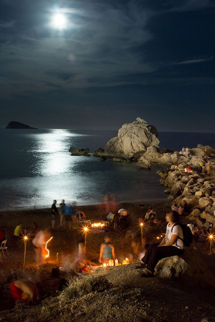"Night of ""San Juan"", in Finestrat, Spain"